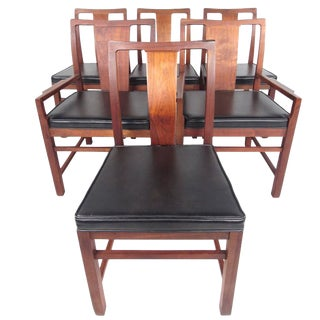 Mid-Century Modern American Walnut Dining Chairs - Set of 6