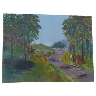 H.L. Musgrave Modernist Woodsy Path Painting