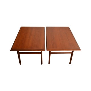 Aase Mobler Norway Teak End Tables - Pair