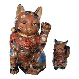 Maneki Neko Good Luck Cats - A Pair