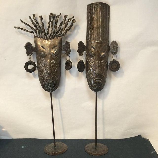 Oil Drum Masks - a Pair - Image 8 of 11