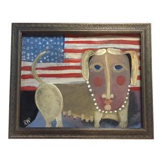"Contemporary Folk Artist Rose Walton""DoggieDiamond"