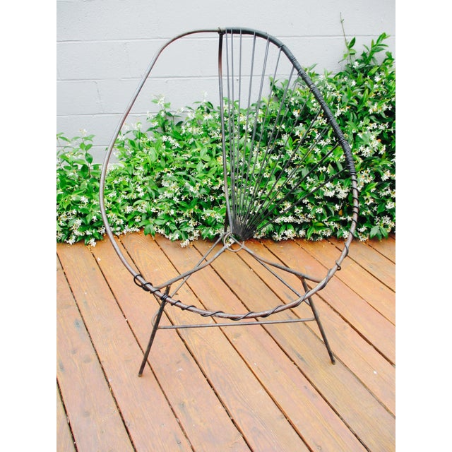 Mid-Century Modern Iron Acapulco Chair - Image 3 of 5