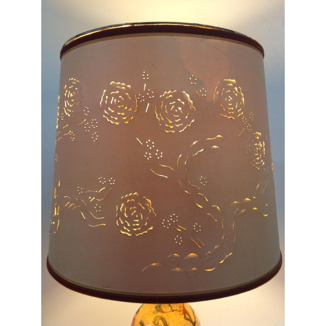 Antique Porcelain Asian Style Table Lamp - Image 5 of 9