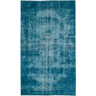 "Vintage Turkish Overdyed Rug - 5'1"" x 8'10"""
