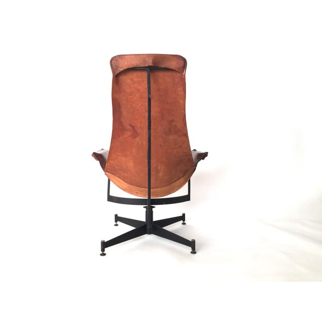 Leather Sling Chair By William Katalovos Chairish