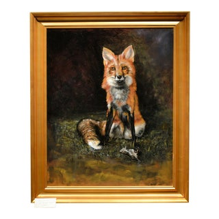 "Robert Hale ""Fox"" Oil Painting"
