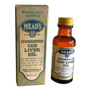 1930s Vintage Medical Cod Liver Oil in Box