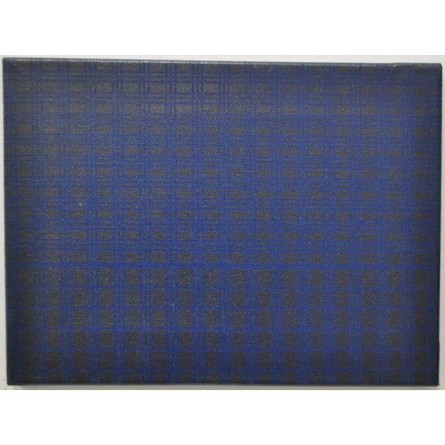 1970's Charles Hersey Blue Vintage Op Art - Image 3 of 5