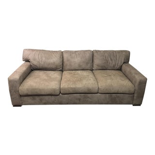 Gray Buffalo Leather Sofa