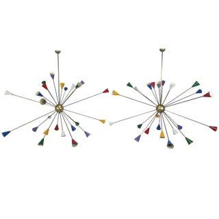 Twenty-Four-Arm Italian Sputnik Chandelier
