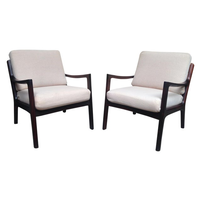 Ole Wanscher Mid-Century Rosewood Chairs - A Pair - Image 1 of 9