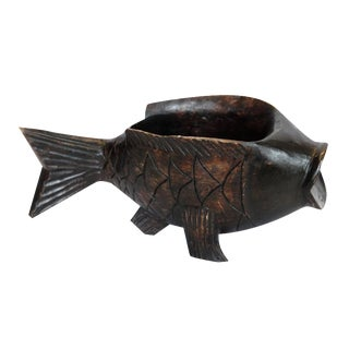 Wooden Fish Catchall