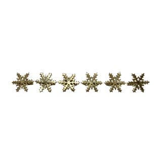 Brass Snowflakes Napkin Rings - Set of 6