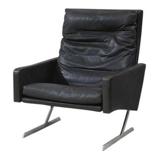 Preben Fabricius High Back BO 701 Chair in Brown Leather, Germany, 1970
