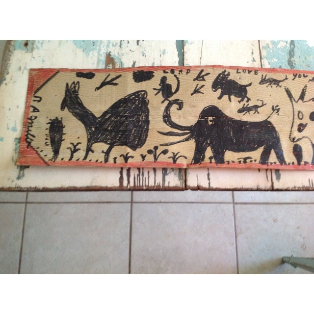 Vintage Folk Art Primitive Native Painting - Image 3 of 9
