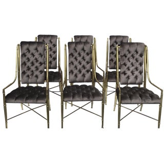 Mastercraft Brass Dining Chairs - Set of 6