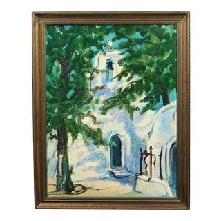 "Henrik Bloch ""Chapel in Italy"" Painting"