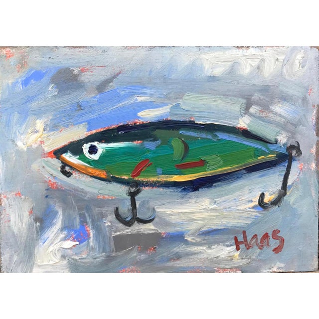 """Green Fishing Lure"" Painting - Image 2 of 11"