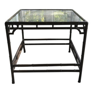 Faux Bamboo Chippendale Patio Table