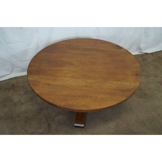 Stickley Oak Adjustable Height Coffee/Dining Table - Image 3 of 10