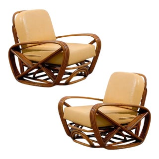 Handsome Frankl Style Square Pretzel Lounge Chairs