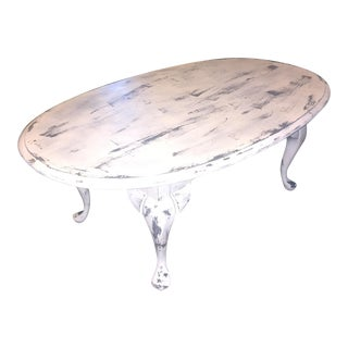 Distressed White & Gray Coffee Table