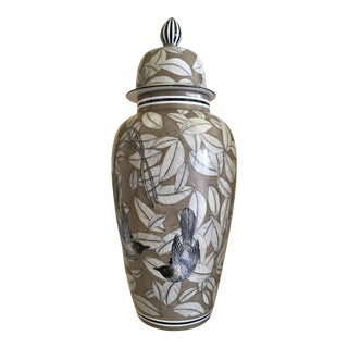 Hand Painted Porcelain Temple Jar