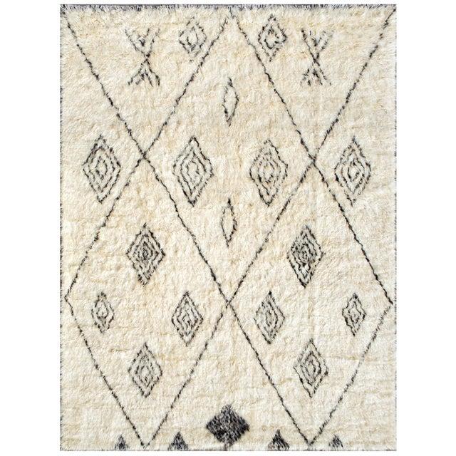 "Moroccan Wool Area Rug - 7'10"" X 10' - Image 1 of 2"