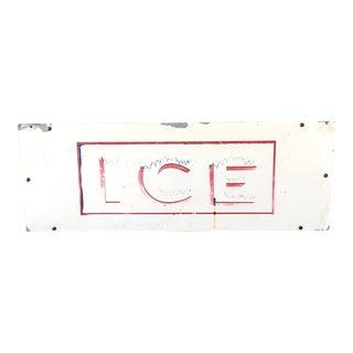 Distressed Vintage Ice Sign