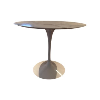 Round Saarinen Tulip Table Matte Marble Top