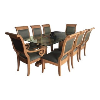 Thomasville Formal Dining Room Table and Chairs - Set of 9