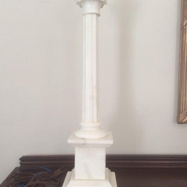 Alabaster Column Lamp - Image 5 of 9