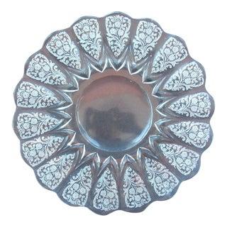 Vintage Baroque Glass Serving Platter
