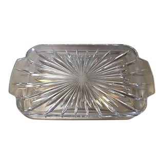 Vintage Starburst Glass Platter