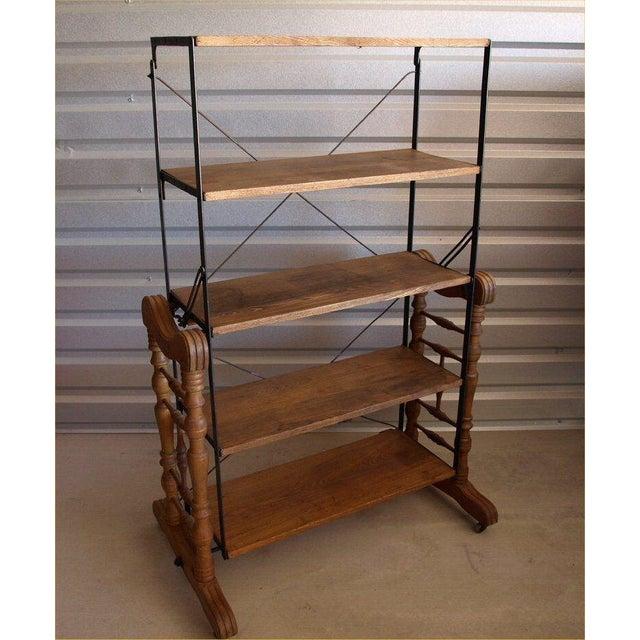 Yesbera Antique Baker Tilt Table/Shelving Unit - Image 3 of 8