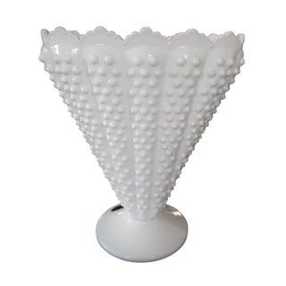 Fenton Milk Glass Fan Vase