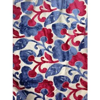 Raised Velvet Upholstery Floral Fabric - 5 Yards