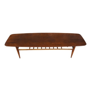 Lane Walnut Coffee Table With Magazine Rack
