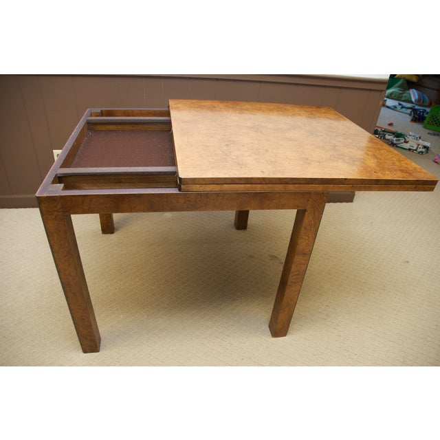Burl Wood Fliptop Expandable Dining Table - Image 9 of 9