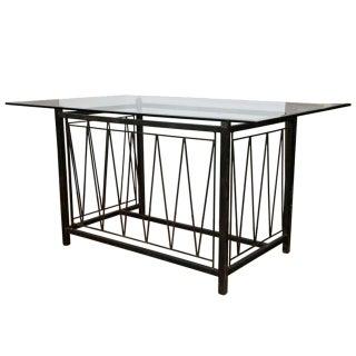 A Deigo Giacometti Style Metal Base Desk