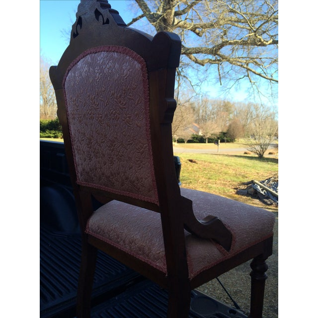 Vintage Victorian Chairs, Pink Upholstery - Pair - Image 6 of 9