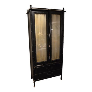 Black Chinoiserie China Cabinet