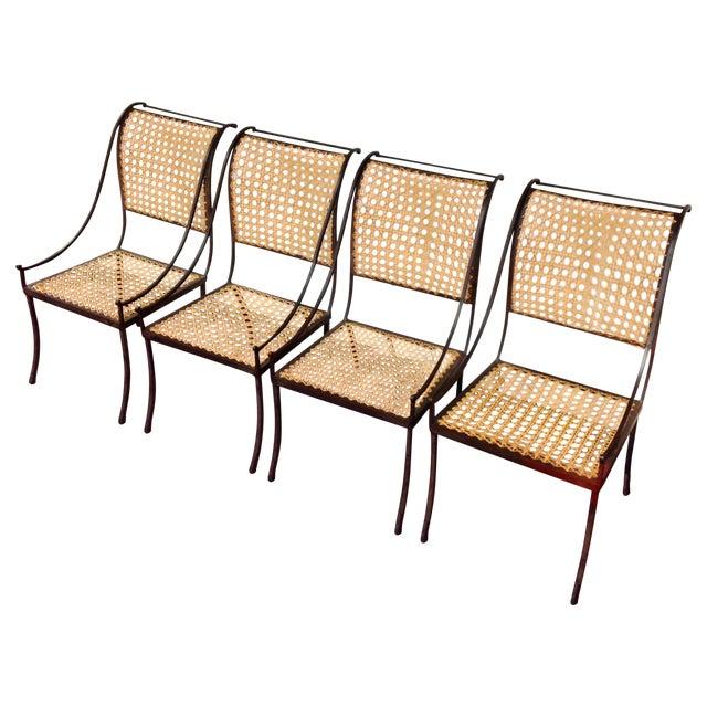 John Vesey Mid-Century Cane Back Chairs - Set of 4 - Image 1 of 10