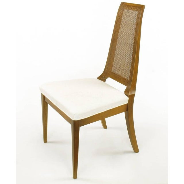 Image of Sleek, circa 1950s Modern Walnut and Cane Dining Chairs