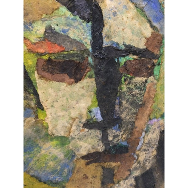 Expressionist Female Portrait Collage Painting - Image 2 of 4