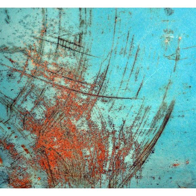 "Blue Metal ""Shoebox"" Chair - Image 3 of 6"