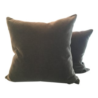 Room & Board Mohair Pillows in Foxhound - A Pair