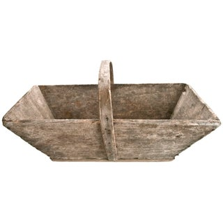 Vintage French Wood Garden Trug