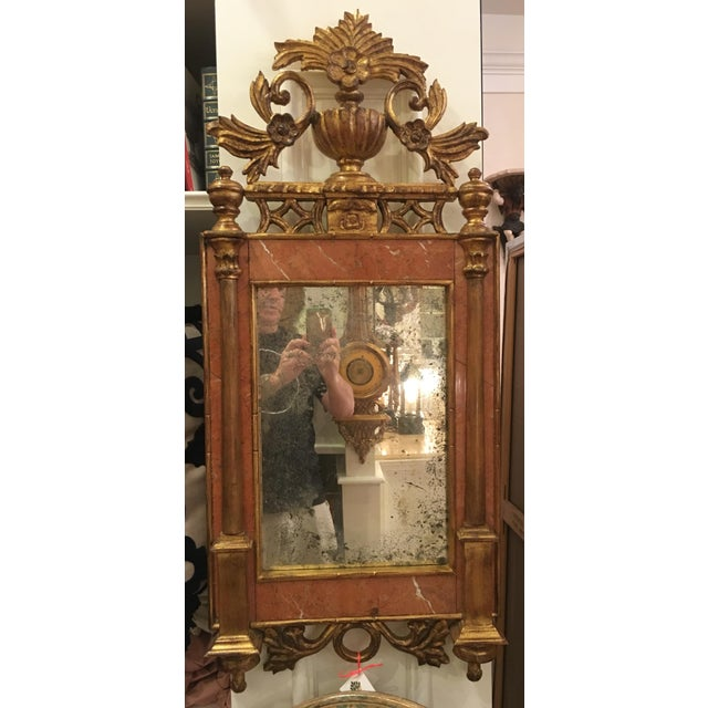Antique Italian Sienna Marble & Giltwood Mirror - Image 2 of 4